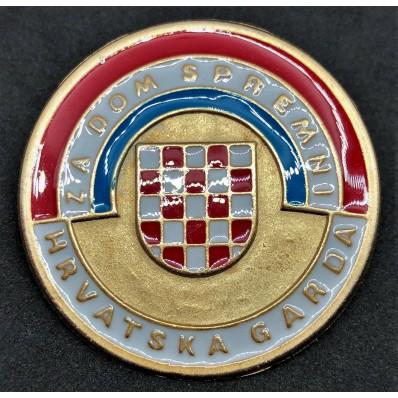 Spilla Croata per l'Inizio della Guerra Patriottica (Oro)