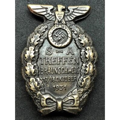 Abzeichen vom SA - Treffen in Braunschweig 1931 (Bronze)