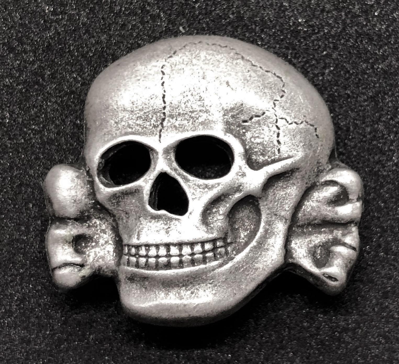 Repro SS Totenkopf Skull Badge For Hat ww2 for reenactment