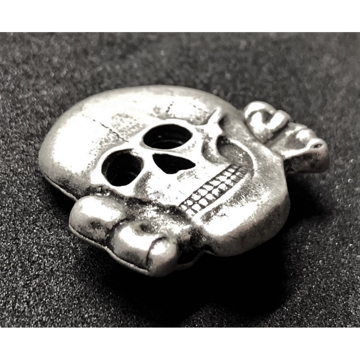 Repro SS Totenkopf Skull Badge For Hat ww2 for reenactment