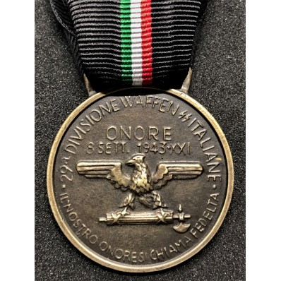 Medaglia 29° Div. Waffen SS Italiane