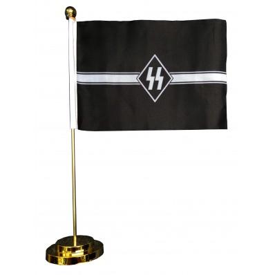 -Metal Base Table Flag - SS