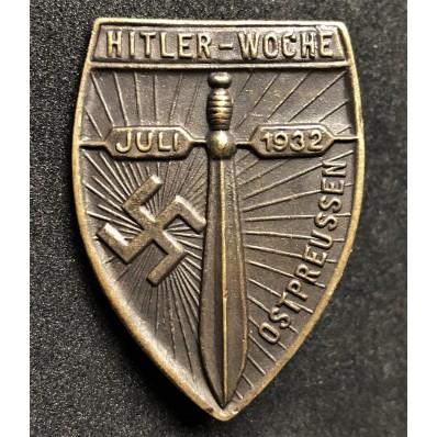 East-Prussian Hitler's Week Badge