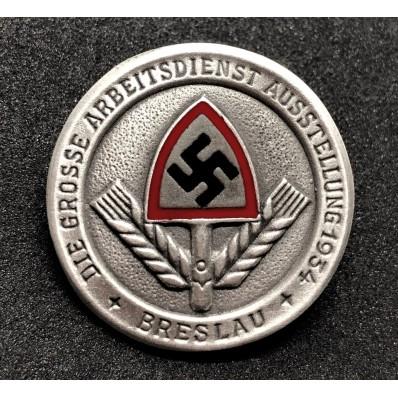 Abzeichen - Die Grosse Arbeitsdienst Ausstellung 1934 Breslau