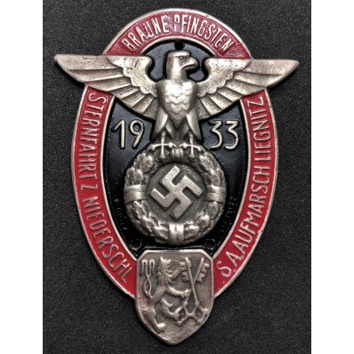 "Placchetta da Auto ""Braune Pfingsten 1933"""