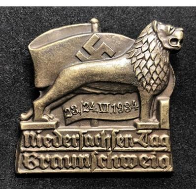 Distintivo del Ritrovo della Bassa Sassonia a Braunschweig del 1934