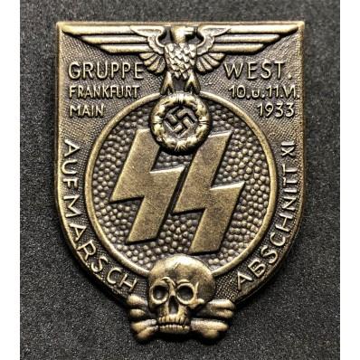 SS Gruppe-West Abschnitt XI Frankfurt am Main Rally badge