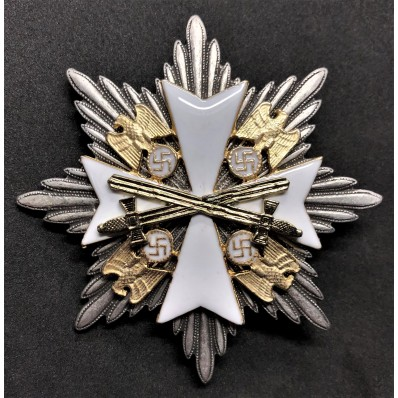 Star of the Grand Cross Order Of The German Eagle - with Swords (Silver)