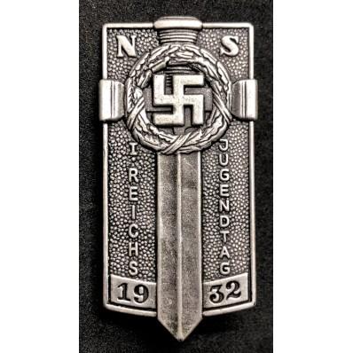 Distintivo Hitlerjugend per il Primo Raduno di Postdam (Argento)