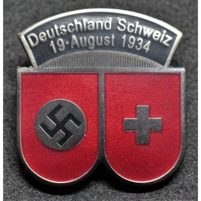 Abzeichen für das Fußballspiel 1934 zwischen Deutschland und der Schweiz