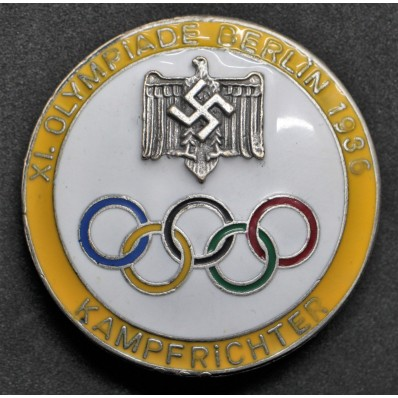 Badge for Judges of the Berlin Olympics 1936 (Yellow)
