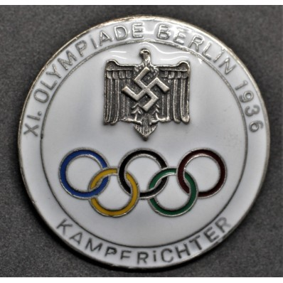 Badge for Judges of the Berlin Olympics 1936 (White)