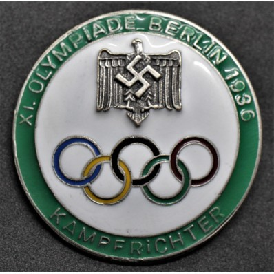 Badge for Judges of the Berlin Olympics 1936 (Green)