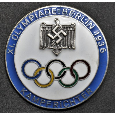 Badge for Judges of the Berlin Olympics 1936 (Blue)