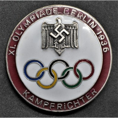 Badge for Judges of the Berlin Olympics 1936 (Red)