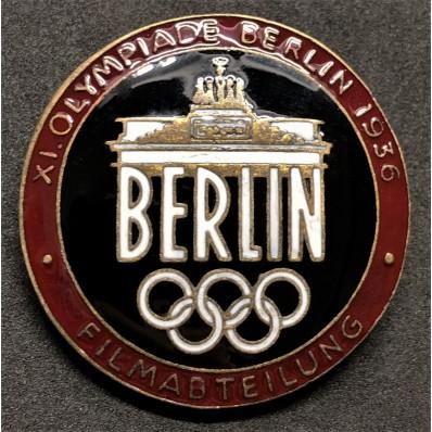 Abzeichen für Mitglieder der Filmabteilung der Olympischen Spiele 1936 in Berlin