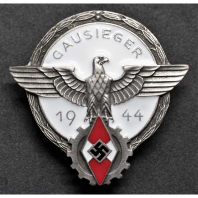 Distintivo HitlerJugend - Gausieger im Reichsberufswettkampf 1944