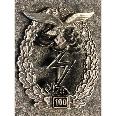 Ground Assault Badge Of The Luftwaffe - 100 Assaults
