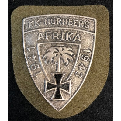 Commemorative Shield - KK-Nürnberg Afrika 1941-1943
