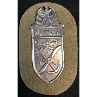 Narvik 1940 Battle Shield (Gold)