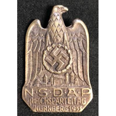 Distintivo Reichsparteitag Nürnberg 1933 (Bronzo)