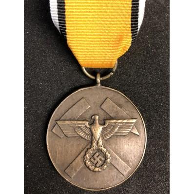 Medaglia Per Meriti Nella Costruzione Delle Trincee (Bronzo)
