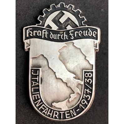 """Badge """"Italien Fahrten 1937/38"""""""