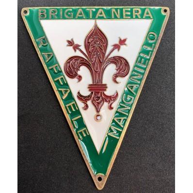 """Schild - Schwarze Brigaden """"Raffaele Manganiello"""" Florenz"""