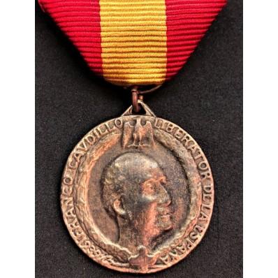 """Italo-Spanish contingent Medal """"Verdad y Justicia"""""""