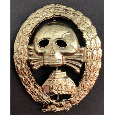 Distintivo Partecipazione In Combattimenti Con Unità Corazzate In Spagna - Legione Condor (Oro)