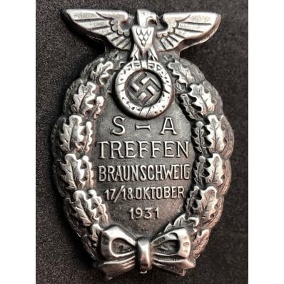 Distintivo Per Il Convegno di Braunschweig Del 1931 (Argento)