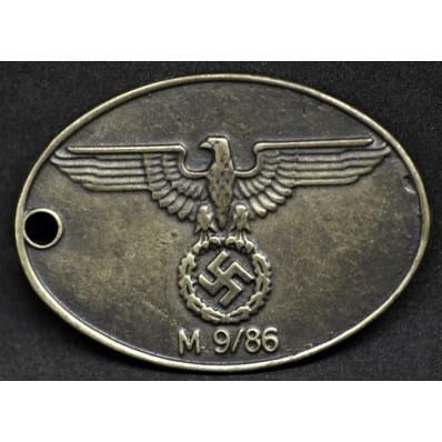 Piastrina Di Riconoscimento Della Gestapo