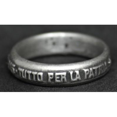 Anello - Tutto per la Patria (19,5mm)