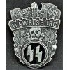 SS Wewelsburg Castle Commemorative Badge (with brooch)