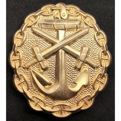 Marine Verwundetenabzeichen (Gold)