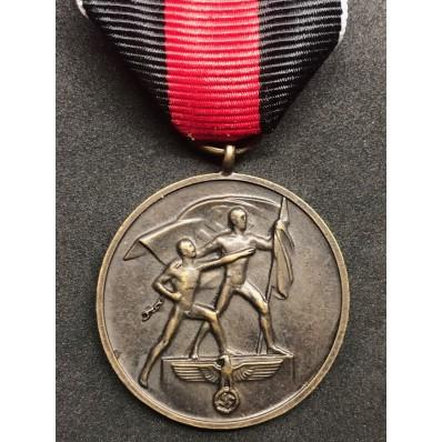 Sudetenland Medal 1 Octobre 1938