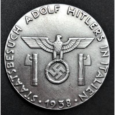 Commemorative Badge For Hitler Visit In Italy
