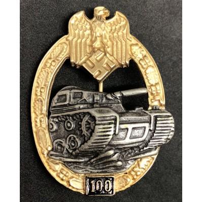 Panzer Badge - 100 Assaults (Second Type)