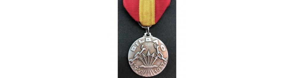 Krieg in Spanien Medaillen